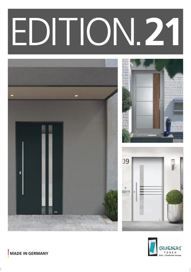 Titelseite Katalog Haustüren Edition 2021